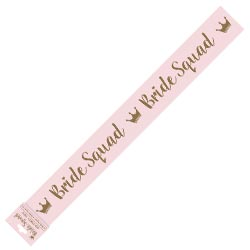 Pink and gold bride squad sash.