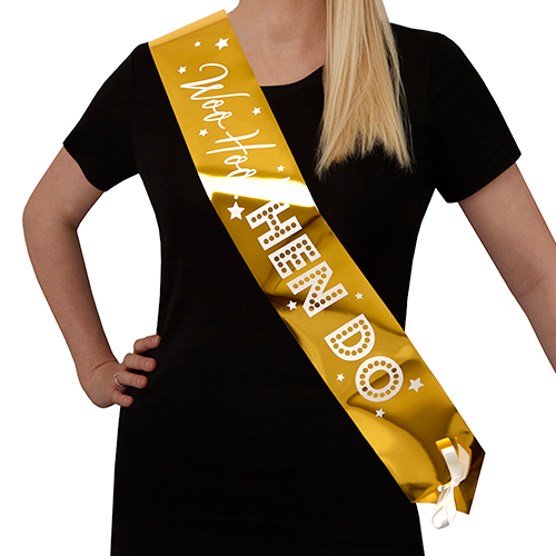 Woo Hoo Hen Do gold sashes.