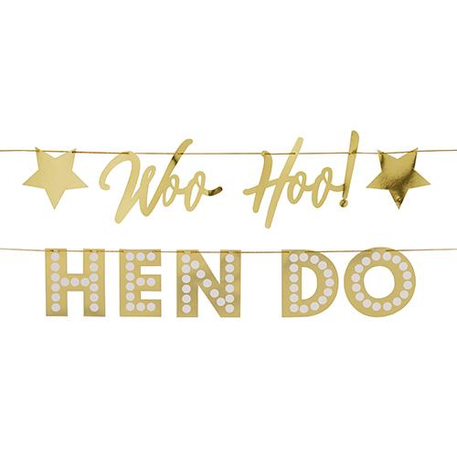Woo Hoo Hen Do banner.
