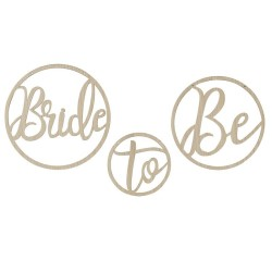 Wooden Bride To Be Hoops..