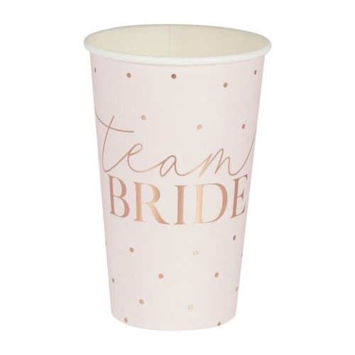 Large baby pink team bride cup.