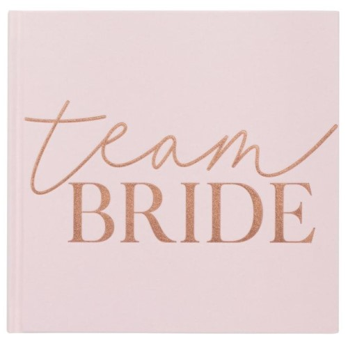 Light pink velvet Team Bride book.
