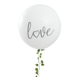 Huge white Love Balloon.