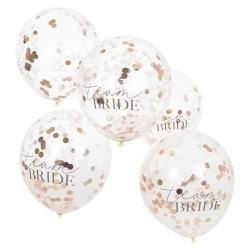 The Team Bride Confetti balloons seen against a white background.