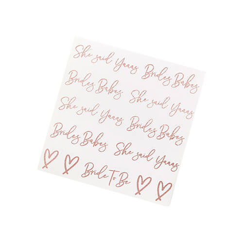 A sheet of temporary tattoos with two different designs.