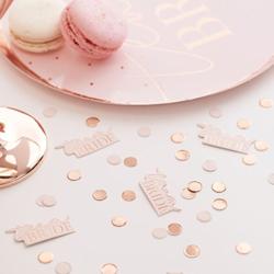 Team bride confetti with snacks.