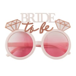 The bride to be glasses on a white background.
