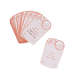 The cards on a white background.