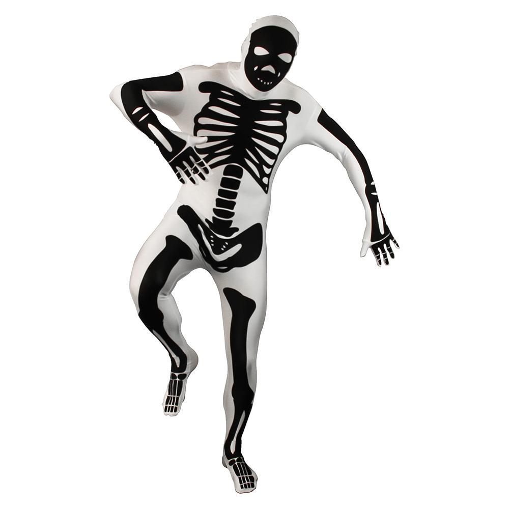 Black And White Skeleton Morphsuit