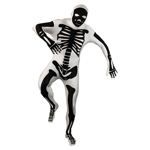 Black And White Skeleton Morphsuit
