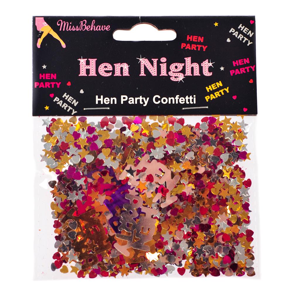 Metallic Hen Party Confetti