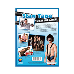 Tie Him Up Tape Back Of Packaging