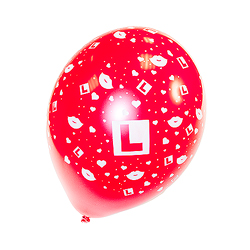 Red L Plate Balloons