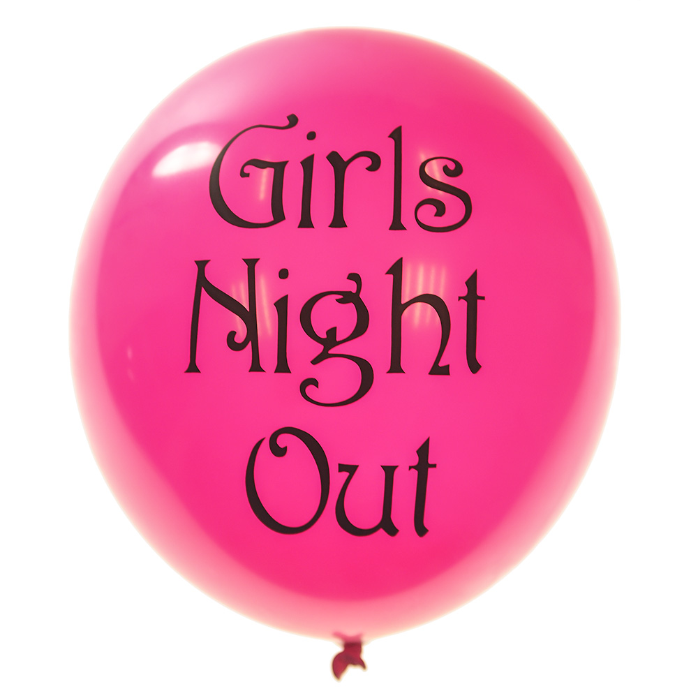 Girls Night Out Balloons in Pink Latex