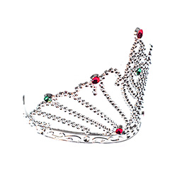 Product Side View Of Dimante Fan Tiara