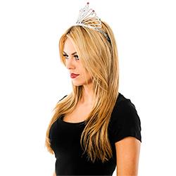 Model Side View Dimante Fan Tiara
