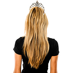Model Back View Dimante Fan Tiara