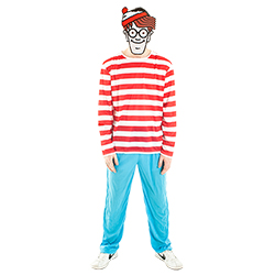 Worn with the official Where's Wally costume