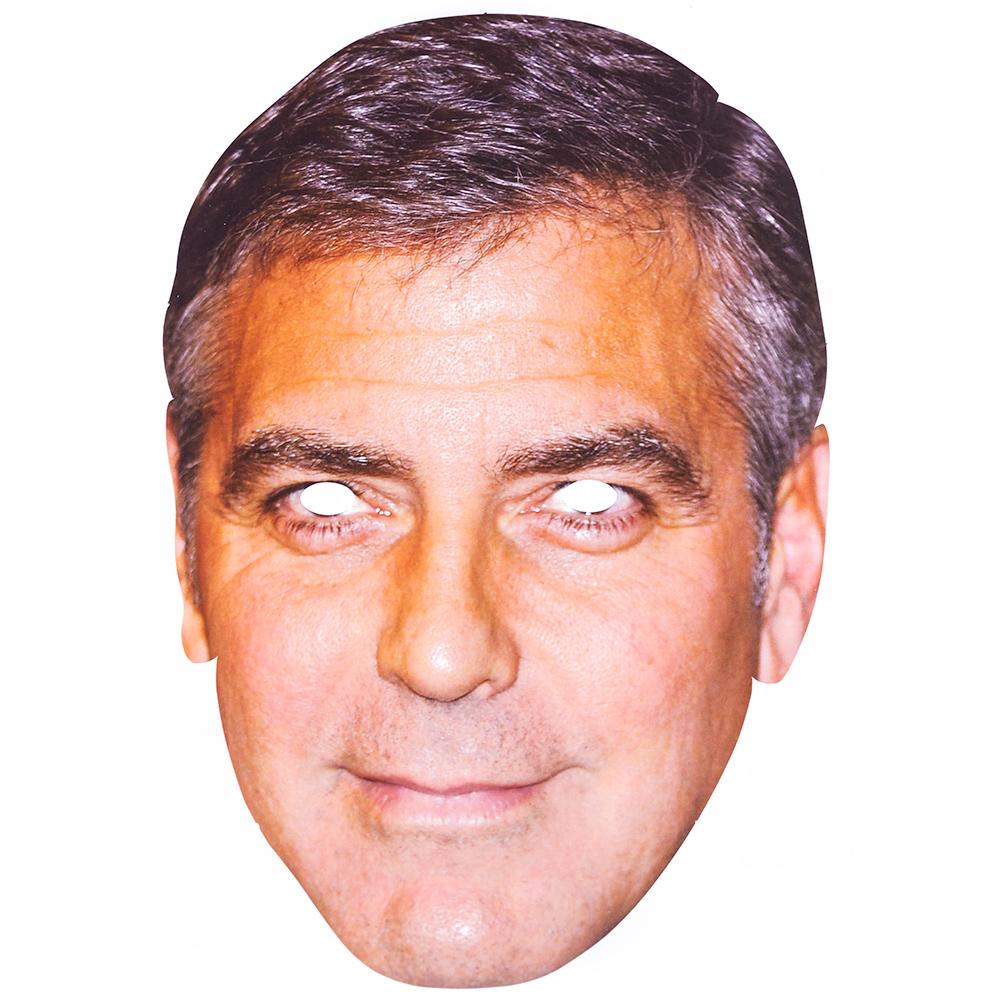 Cardboard George Clooney Mask