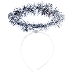 Silver Tinsel Angel Halo Product View