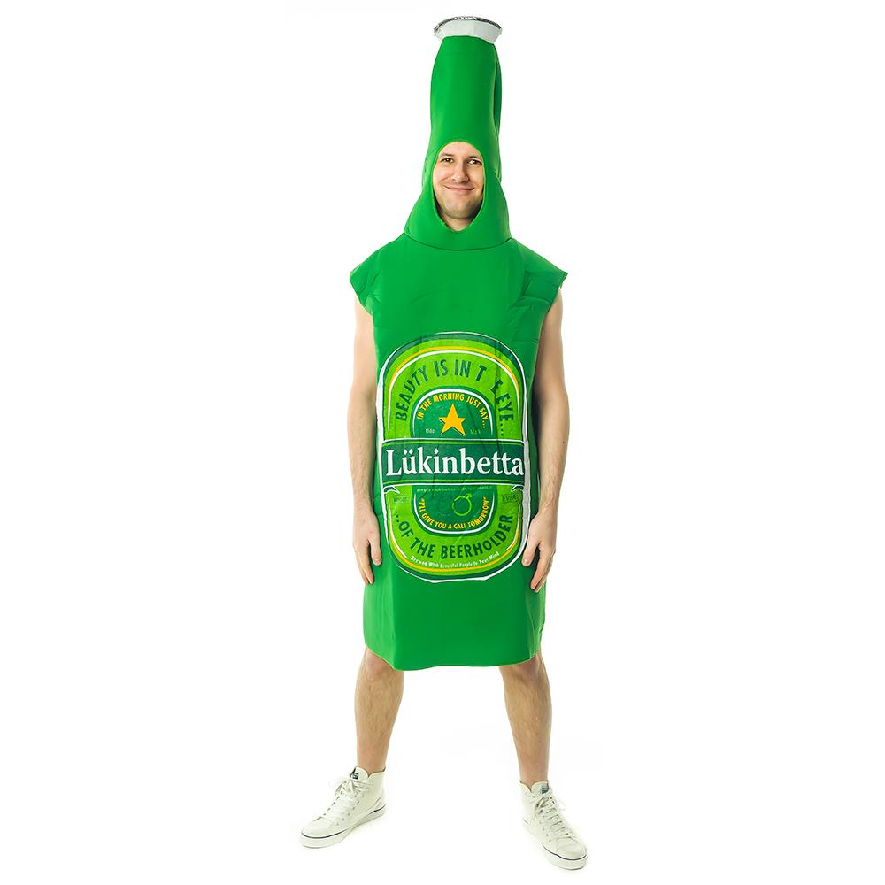 Front Facing Amazing Green Beer Bottle Costume