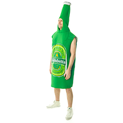 Side Facing Amazing Green Beer Bottle Costume