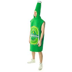 Side Facing Amazing Green Beer Bottle Costume
