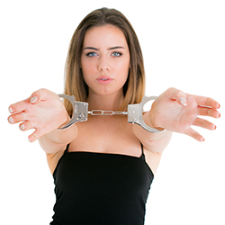 Classic Metal Handcuffs In Packaging