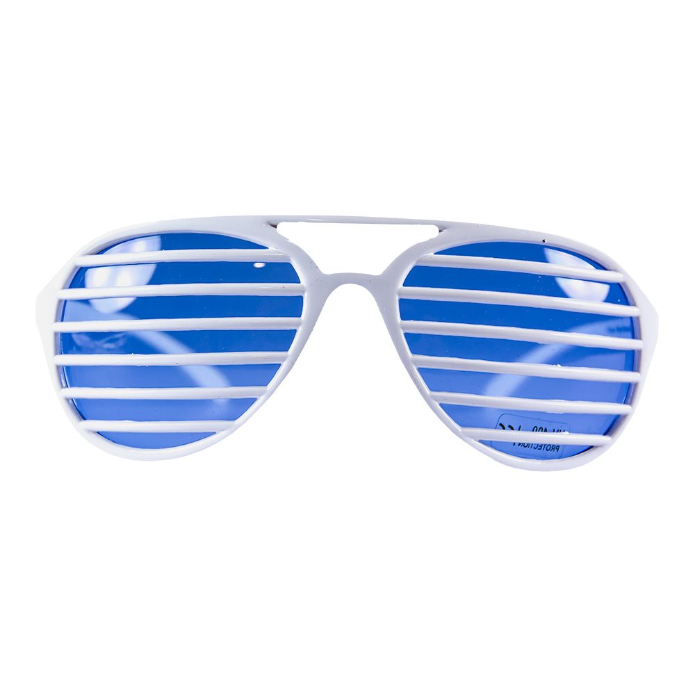 Product View Of White Slatted Sunglasses