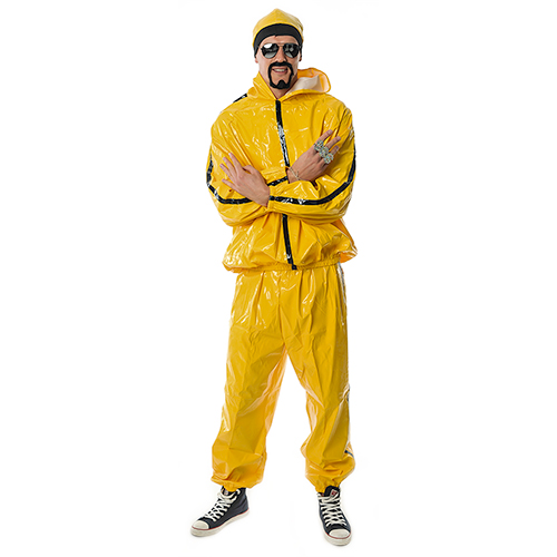 Bright yellow Ali G outfit