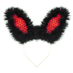 Product Image Flashing Black & Red Bunny Ears