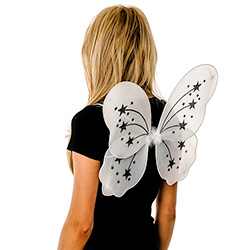 Back View Of White Fairy Wings