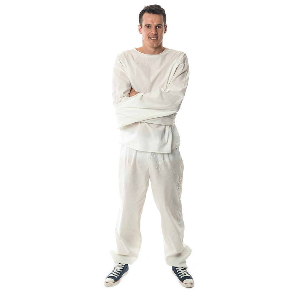 Frong Facing White Straight Jacket Outfit