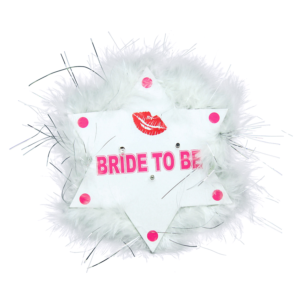 Flashing Bride To Be Star Badge On White Background