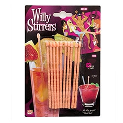 10 willy stirrers in their packet
