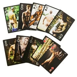 Naked Male Playing Cards Ace Of Clubs