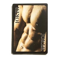 Naked Male Playing Cards Packaging