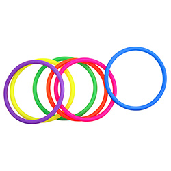 Penis Hoopla Rings On White Background