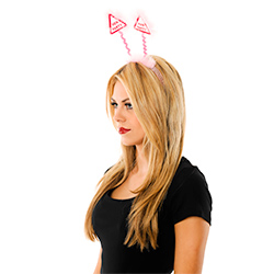 Side Facing Pink Hen Party Warning Boppers