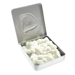 Peppermint Peckers 45g open tin