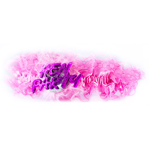 Pink Flashing Garter On White Background