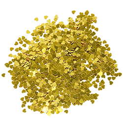 Gold Hearts Confetti