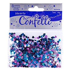 Metallic Hearts Confetti