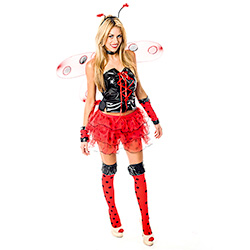 Sexy Lady Bird Costume Worn By Model