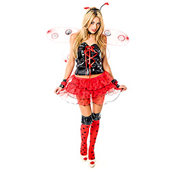 Sexy Lady Bird Costume Holding Skirt