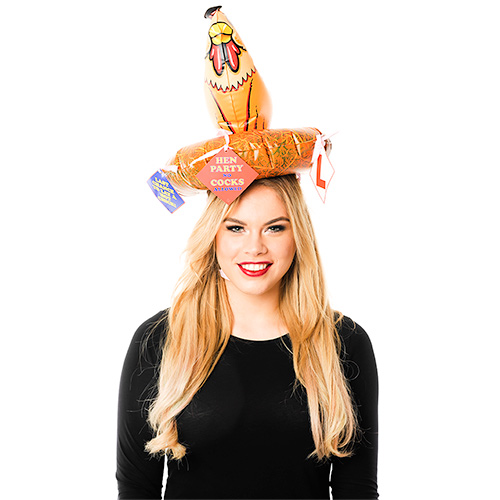 Inflatable Hen Hat With Novelties