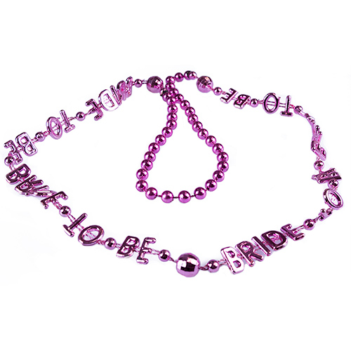 Pink Beaded Bride To Be Necklace Product Shot