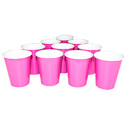 14 Pack of Hot Pink Party Cups Set Up