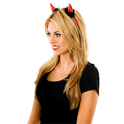 Hen Party Devil Horns With Lace Trim
