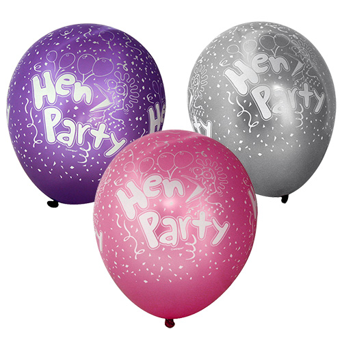 All 3 Pearlised Hen Party Balloons